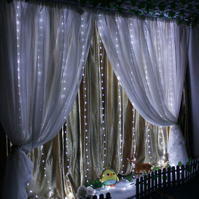 300LED Blanc Rideau Guirlande USB String Hanging Wall Lights fête de mariage