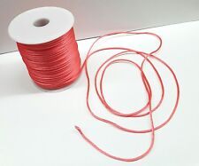 10 Yards 2mm Satin Rattail Cord-string in CORAL Cordon Cola de Rata-CORAL