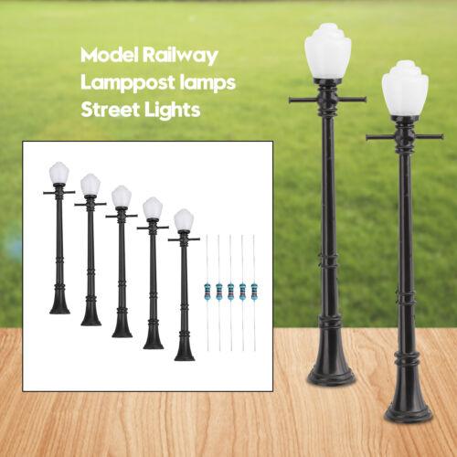 5pcs LCX04 Model Railway Lamppost lamps Street Lights O Scale LEDs Z2