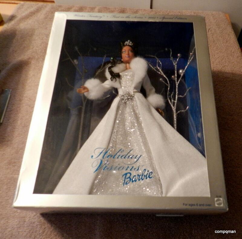 2003 Fantasía De Invierno Vacaciones visiones edición especial de Barbie Rápido Gratis enviado