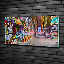 Acrylglas-Bild Wandbilder Druck 125x50 Deko Kunst Bunte Graffiti