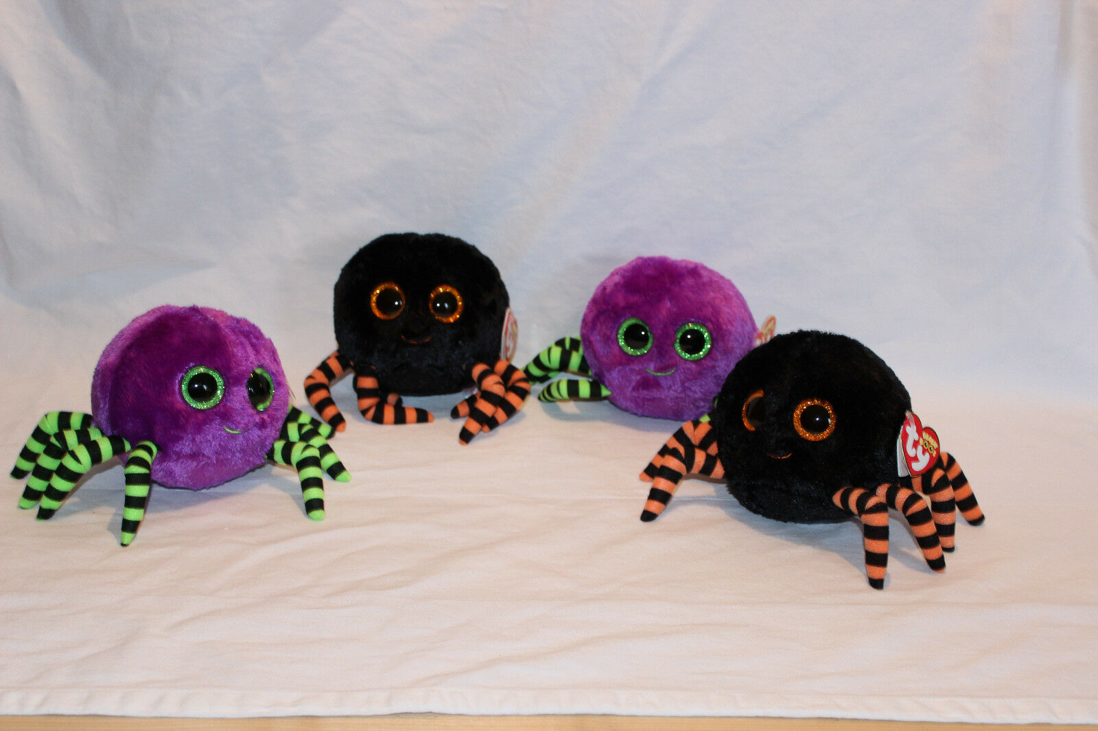 Ty Halloween beanie boo's plush - Crawley The Spider Spider Spider x4 - all new with tags fcd8d5