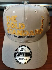 95515a24bb590 New Era THE PLAYERS Gray Championship   THE GOLD STANDARD   Golf Hat ...