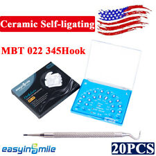 Orthodontic Ceramic Self Ligating Brackets Dental Clear Braces Mbt 022 345 Hooks