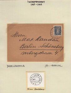 Lithuania-1927-cover-Marijampole-to-Berlin-kn912