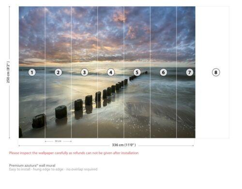 Sunset Beach Wall Mural Wallpaper WS-42205