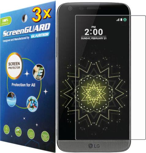 3x película transparente/Anti-reflejos o Protector de Pantalla de Vidrio Templado LG G5 H820 H830 H850