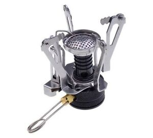 Mini Barbeque Camping Foldable Canister Stove Gas Burner Costume Props