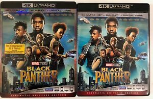 MARVEL-BLACK-PANTHER-4K-ULTRA-HD-BLU-RAY-2-DISC-SET-SLIPCOVER-SLEEVE-FREE-SHIP