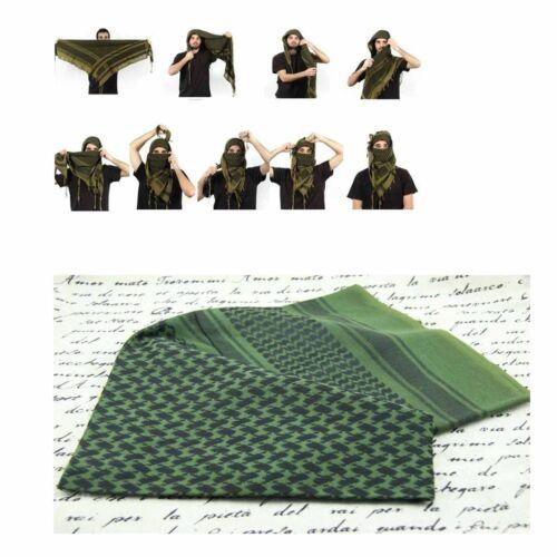 MFR Arab Shemagh Kaffiyeh Turban Palestine Wrap Scarf Shawl Unisex Green Black