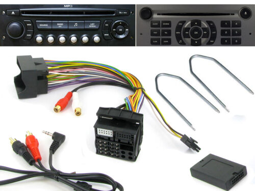 Citroen Entrada Aux C2 C3 C4 C5 C8 3,5 mm Jack ctvpgx011 /& Radio RD4 Llaves de liberación