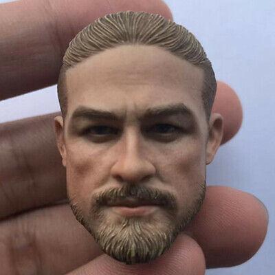 "1//6 Painted Head Man Sculpt Charlie Hunnam Fit 12/"" Figure Doll Toy PVC Model"