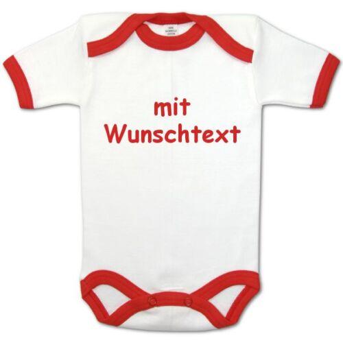 Baby-Body Imprimé Nom//texte rouge 74//80