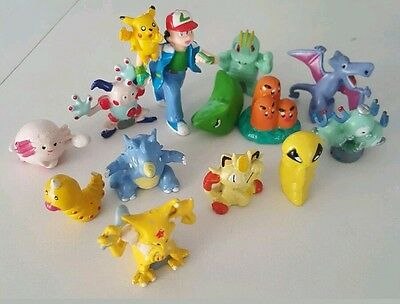 24 peices Pokemon Go Rare Pokemon Figures 2-3cm Toy Game Cake Topper Pikachu
