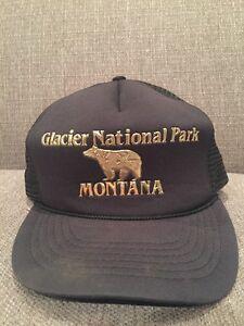 Image is loading New-Vintage-Glacier-National-Park-Montana-Mesh-Trucker- 33e6d2e51088