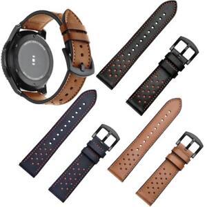 22mm-Bracelet-en-Cuir-Veritable-Courroie-de-Montre-pour-Samsung-Gear-S3-Frontier