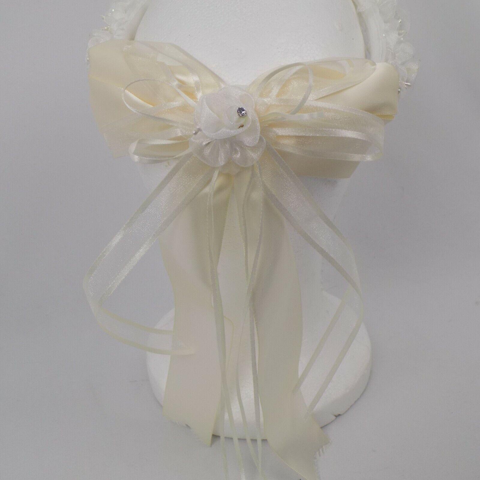 Flower Girl Wedding Headband 7 inch diameter Princess Easter Formal Cosplay