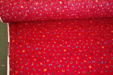 NEW Red Color Print Fabric is made in the USA of 100% cotton and 45 inches wide.