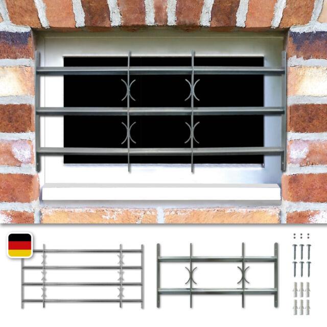 Fenstergitter Sicherheitsgitter ausziehbar /& Sicherheitsschrauben aus Stahl DE