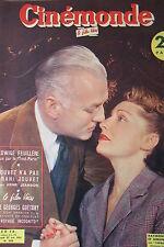 CINEMA SIMONNE RENANT RAYMOND ROULEAU JOUVET GUETARY   N° 899 CINEMONDE 1951