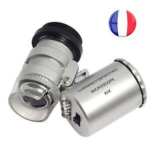 MICROSCOPE 60 X DE POCHE 2 LEDS HORTICULTURE ÉDUCATION MÉDECINE u9UStnBI-08061706-591803229