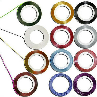10pcs Mixed Colors Rolls Striping Tape Line Nail Art Tips Decoration Sticker DIY