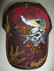 Pugs Gear Men/'s Ball Cap,~Large Embroidery,~Birds /& Skull~Great Color~Ships FREE