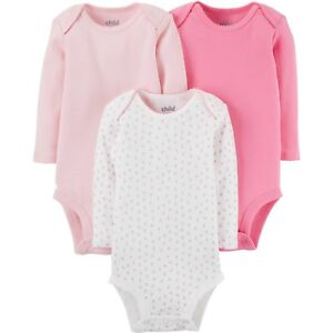 1010ffcb94 Child of Mine by Carter s Newborn Baby Girl Long Sleeve 3 Pack ...