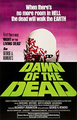 """DAWN OF THE DEAD"" .. .Classic Horror Movie Poster A1A2A3A4Sizes"