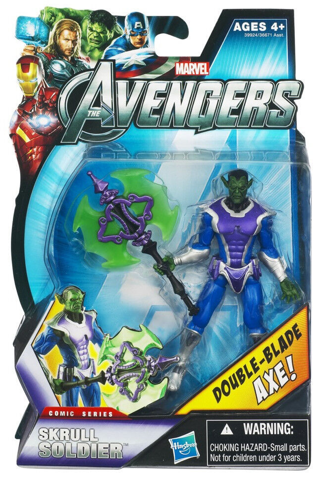 SKRULL SOLDIER SOLDIER SOLDIER ( 4  ) MARVEL ( COMIC SERIES ) AVENGERS MOVIE ACTION FIGURE 82426e