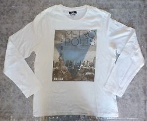 Pull-t-shirt-m-longues-blanc-marque-Jules-taille-XL-44-125