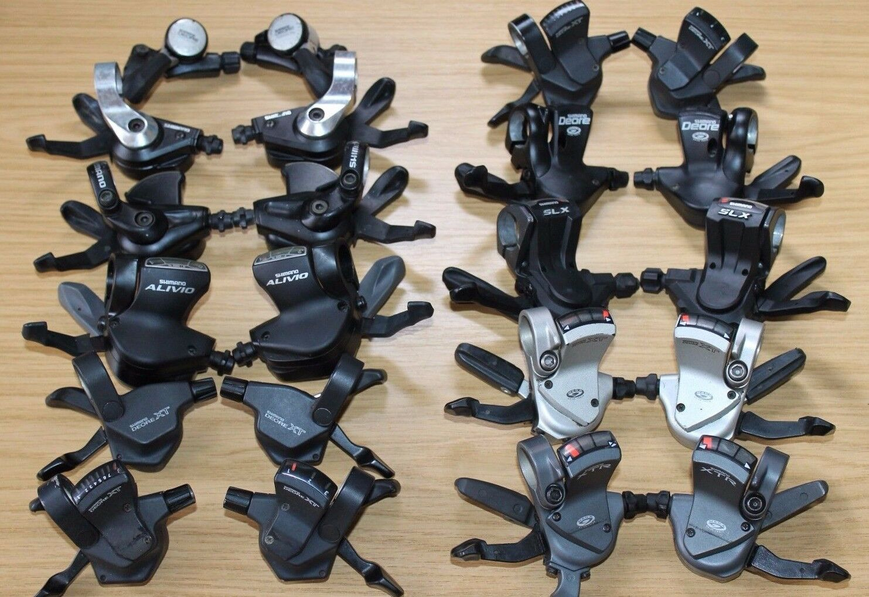 Shimano Shifters 3 7 8 9 24 27 Speed Left Right Bike Shifter Pods Gear XT Deore