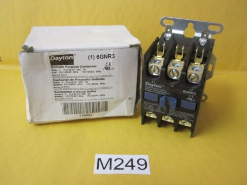 Two 2 Dayton 6GNR3 Definite Purpose Contactor w. Boxes