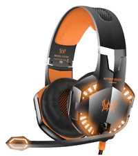 VersionTech G2000 Stereo Gaming Headset With LED Lights Xbox One Ps4 in Orange
