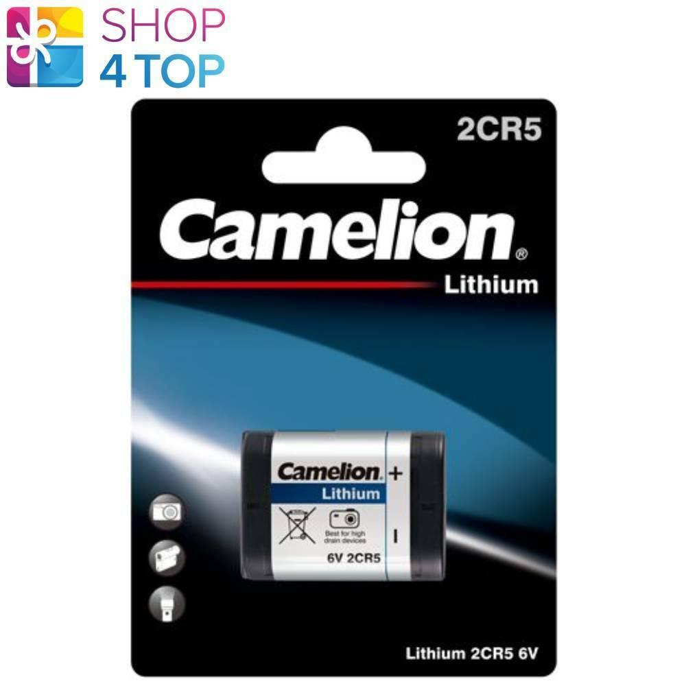 Camelion 2CR5 Lithium Batteries 6V Photo Camera 1400mAh DL245 1BL Exp 2030 New