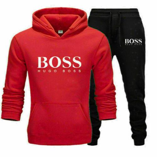 New Men/'s Hoodies Sweatshirt Pants Tracksuit Set Bottoms Sport 2Pcs Jogging Suit