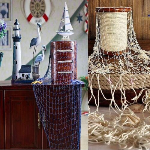 Nautical Fishing Net Beach Party Home Decor Vintage Decorations KS3