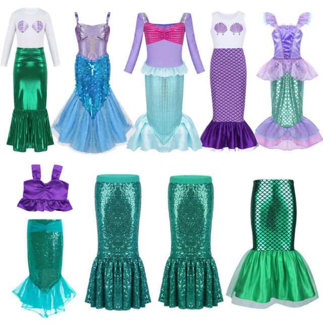 ReliBeauty Little Girls Dress Sequins Mermaid Costume