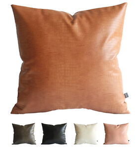 Kdays Faux Leather Crocodile Pillow Cover Decorative Throw Pillow 20