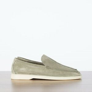 LORO-PIANA-825-NEW-Summer-Walk-Moccasin-In-Greenery-Suede-Calfskin