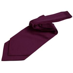 DQT-Satin-Plain-Solid-Plum-Wedding-Self-Tie-Cravat