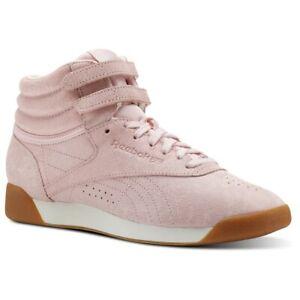 Reebok Classic Freestyle Hi Sizes 3.5-6 Pink RRP £80 Brand New CN3822