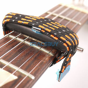 elastic band capo multifunctional capo flat for folk classical electric guitar 709818797538 ebay. Black Bedroom Furniture Sets. Home Design Ideas