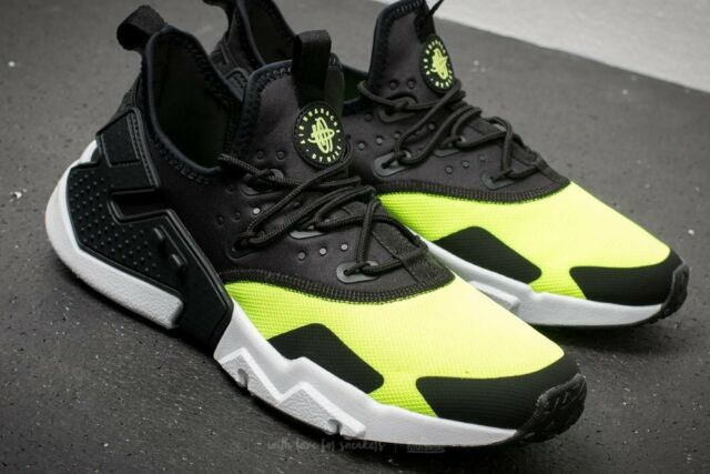 info for 4eb70 9d1fe Nike Air Huarache Drift Volt Black White Men s Training Shoes Size 12