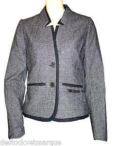 Détails sur veste blazer lainage pied de poule I.CODE par IKKS femme