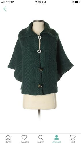 Hive And Honey Green Sweater Cape