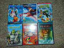 6 Incredibles/Narnia/Shrek 2/Surf's Up/Underdog/Happily After DVD Movie Kids LOT