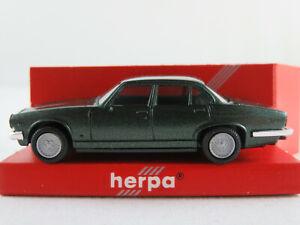 Herpa-3020-jaguar-xj6-1979-1992-en-verde-oscuro-metalizado-1-87-h0-nuevo-en-el-embalaje-original