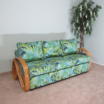 Made In Usa Premium Quality Rattan Queen Sofa Sleeper Bed