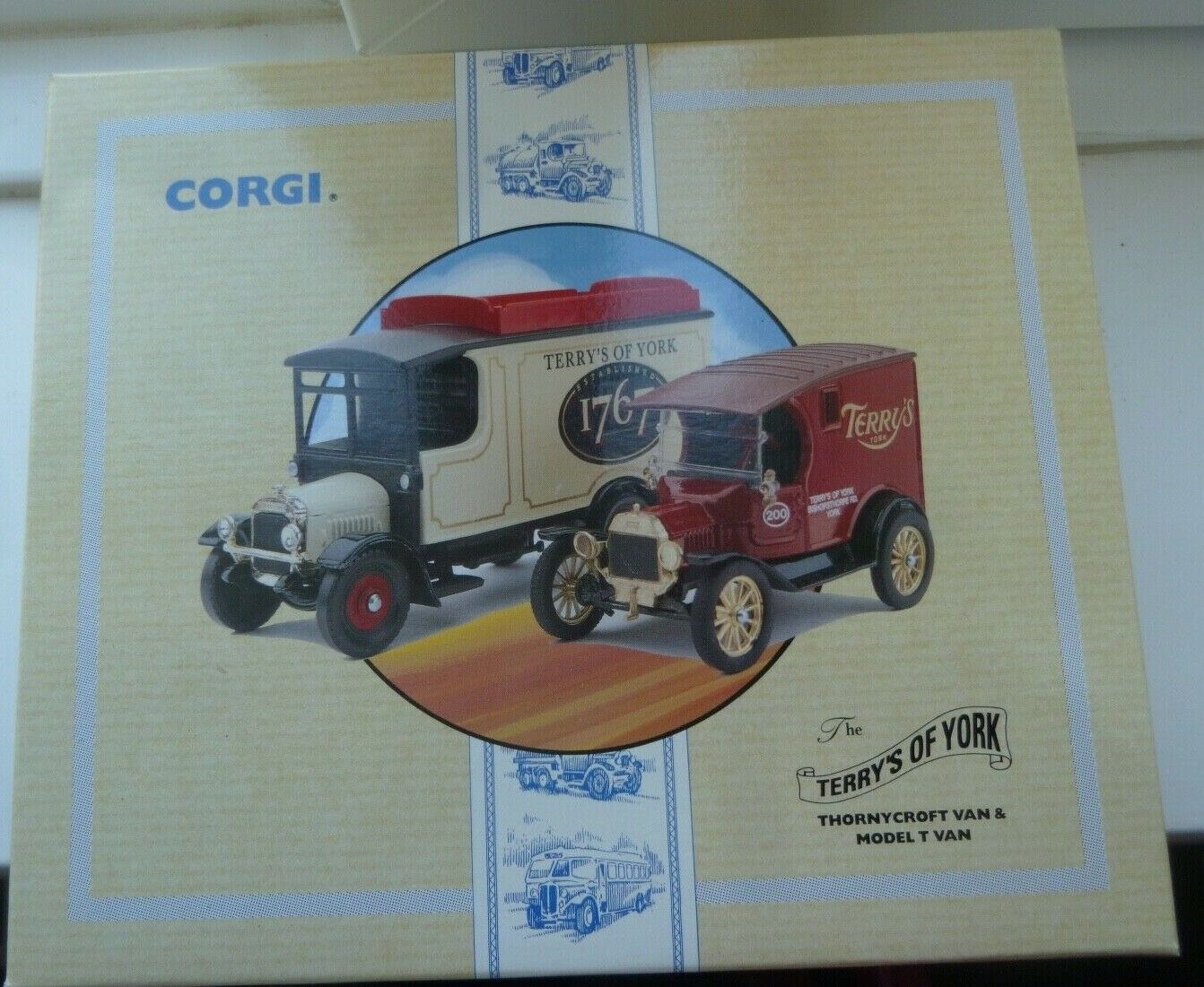 Corgi Vintage 1992 Terry's of York Thornycroft Van & Model T Van No 2279 - New